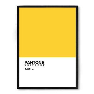 Quadro Decorativo 33x43cm Nerderia e Lojaria pantone amarelo preto