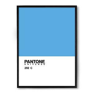 Quadro Decorativo 33x43cm Nerderia e Lojaria pantone azul preto