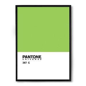 Quadro Decorativo 33x43cm Nerderia e Lojaria pantone verde preto