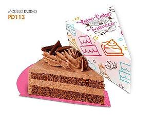 Embalagem Cake Fatia 50 uni