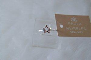 Anel estrela vazado