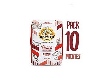 Pack 10kg Farinha 00 Caputo Cuoco Pizza e Pães Longa Fermentação