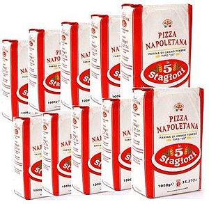 Pack 10kg Farinha 00 Le 5 Stagioni Pizza Napoletana Longa Fermentação