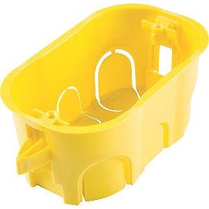 Caixa de Embutir Drywall 4x2 Tramontina Amarela