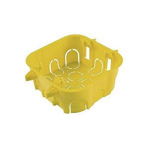 Caixa de Embutir Drywall 4x4 - Tramontina Amarela