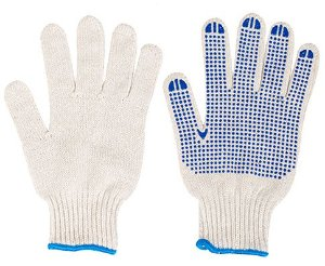 Luva Tricotada e Pigmentada Azul