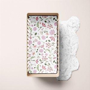 Lençol de elástico berço - Floral