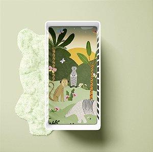 Lençol de elástico berço - Paisagem Animais do Brasil