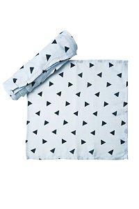 Kit Fraldão Multiuso + Paninho de Boca - Estampa Triângulos