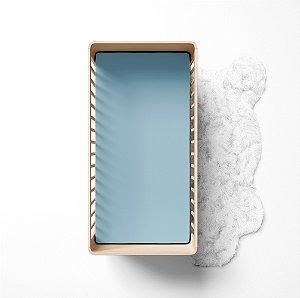 Lençol de elástico berço - Liso Azul
