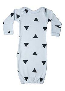 Primeiro Pijama - Manga Longa Estampado Triângulos