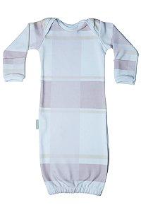Primeiro Pijama - Manga Longa Estampado Xadrez Rosa