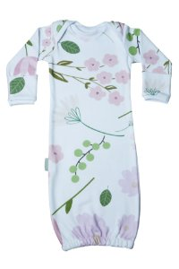 Primeiro Pijama - Manga Longa Estampado Floral