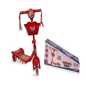 Patinete Mini Ladies Party 3 Rodas Zoop Toys - Vermelho ZP00786
