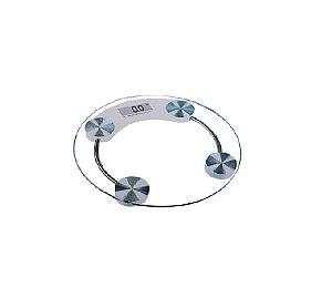 Balança Digital 180 kg Redonda de Vidro Temperado - Wincy