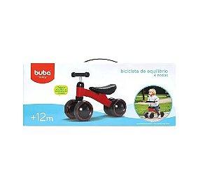 Bicicleta de Equilíbrio 4 Rodas Vermelha - Buba