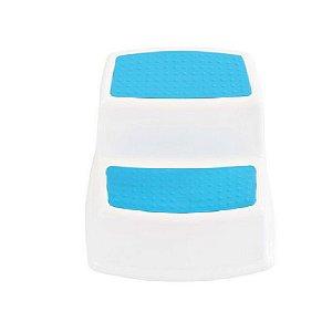 Banquinho de Banheiro 2 Degraus New Style Azul - KaBaby