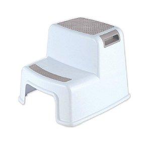 Banquinho de Banheiro 2 Degraus New Style Cinza - KaBaby
