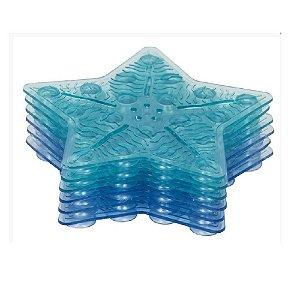 Tapete de Banho Antiderrapante Mini c/ 6 Pecas Azul - KaBaby