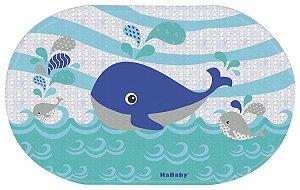 Tapete p/ Banheiro Baleia Azul - KaBaby