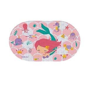 Tapete p/ Banheiro Sereia Rosa - KaBaby
