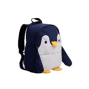 Mochila Infantil Passeio Moletom Pinguim - Clio Style