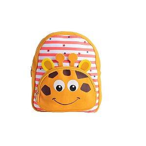 Mochila Infantil Passeio Neoprene Girafa 3D - Clio Style