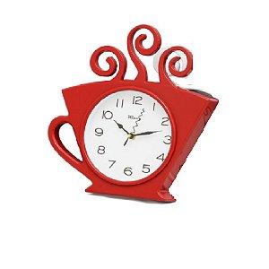Relógio De Parede Xicara 30x28 Vermelho - Wincy