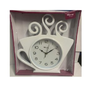 Relógio De Parede Xicara 30x28 Branco - Wincy