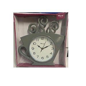 Relógio De Parede Xicara 30x28 Cinza - Wincy