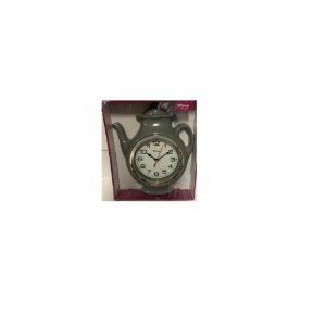 Relógio De Parede Bule 25x28 cm Cinza- Wincy