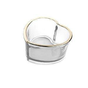 Castiçal vidro coração Transparente - Wincy