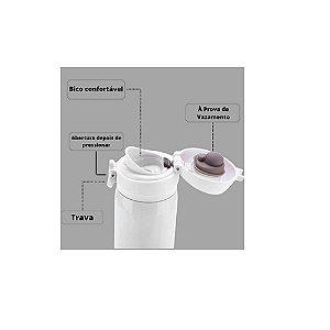 Garrafa Inox 500ML Branca - Wincy