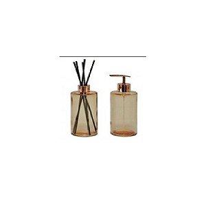 Kit C/2 Pçs de Difusor e Porta Sabonete Líquido Dourado– FWB