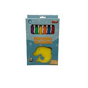 Kit C/6 Lápis de Cera Mais Espoja Para Banho - Zoop Toys