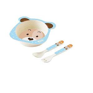 Conjunto Alimentação Bowl Baby 3 Peças Cachorro - Zoop Toys