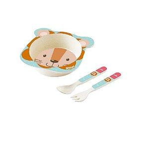 Conjunto Alimentação Bowl Baby 3 Peças Leão - Zoop Toys