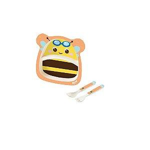 Kit Alimentação Baby 3 Peças Abelha - Zoop Toys