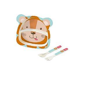 Kit Alimentação Baby 3 Peças Leão - Zoop Toys