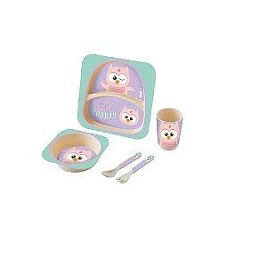 Kit Alimentação Baby 5 Peças Coruja - Zoop Toys