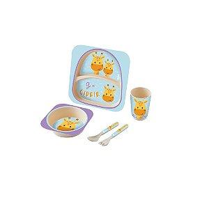 Kit Alimentação Baby 5 Peças Girafa - Zoop Toys