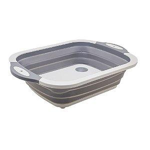 Bacia Retrátil de Plástico Cinza - Interponte