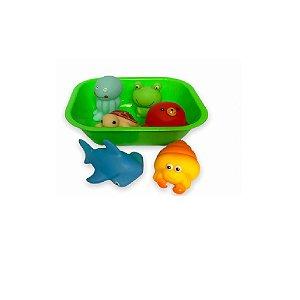 Kit Hora do Banho Bichinhos Verde - Zoop Toys