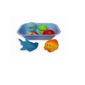 Kit Hora do Banho Bichinhos Azul - Zoop Toys