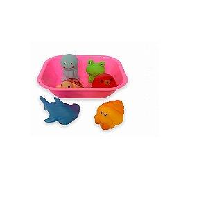 Kit Hora do Banho Bichinhos Rosa - Zoop Toys