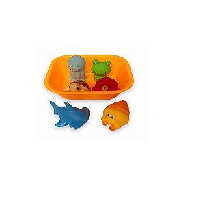 Kit Hora do Banho Bichinhos Laranja - Zoop Toys