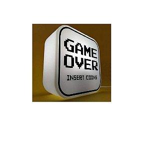 Box Luminária Game Over - Decorfun