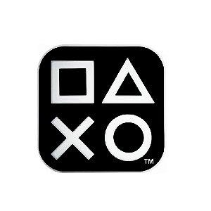 Luminária Playstation Box Ícones Preto - Decorfun