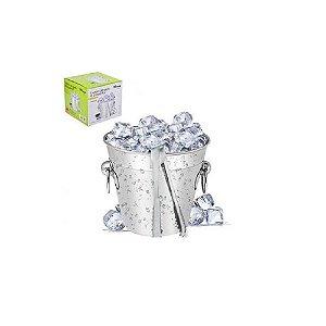 Balde De Gelo E Pegador Inox 14 Cm Reforçado - Wincy
