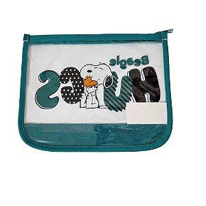 Necessaire Snoopy Verde SP3907VD